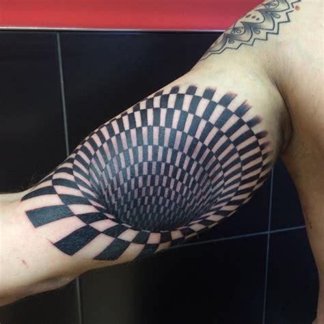 geometric illusion tattoo 17 optical illusion tattoo designs ideas design trends