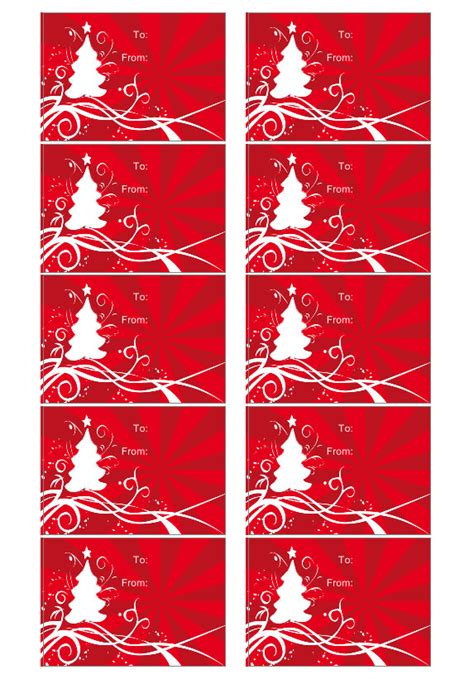christmas tag template create custom christmas gift tags