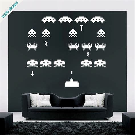 space invaders wall stickers space invaders wall sticker gadgets matrix