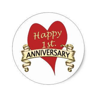 Wedding Anniversary Stickers by 1st Year Wedding Anniversary Gifts T Shirts