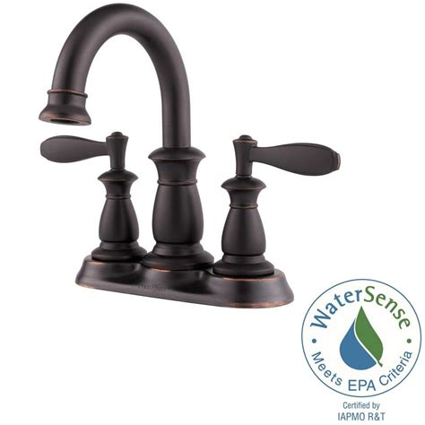 pfister langston 4 in centerset 2 handle bathroom faucet
