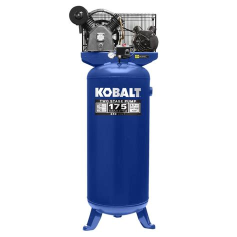 kobalt 60 gallon electric vertical air compressor at lowes