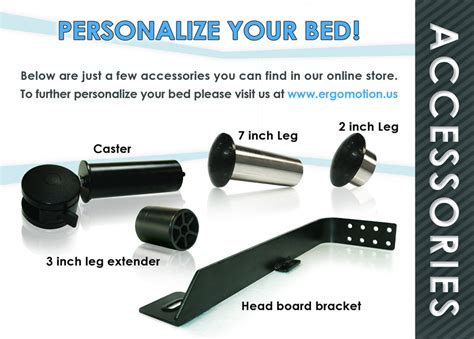 adjustable base bed accessories