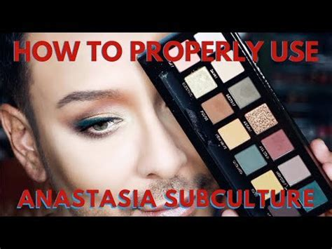 how to use eyeshadow palettes correctly how to use anastasia subculture eyeshadow palette