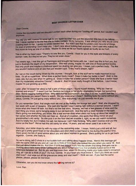 Best Divorce Letter Snopes The 20 Funniest Moments In Divorce History Gallery Worldwideinterweb
