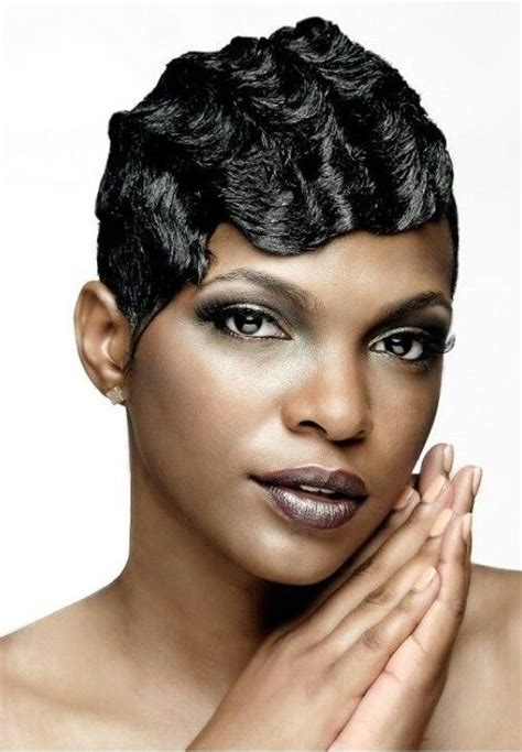 wedding hairstyle with finger wave african american finger waves on short african american hair google