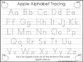 2 task worksheets apple trace the alphabet and numbers 1