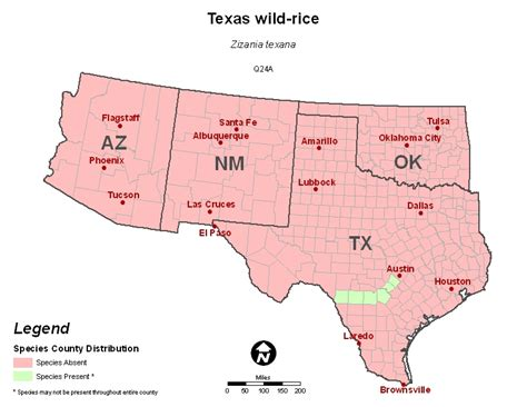 texas wildflower map southwest region ecological services