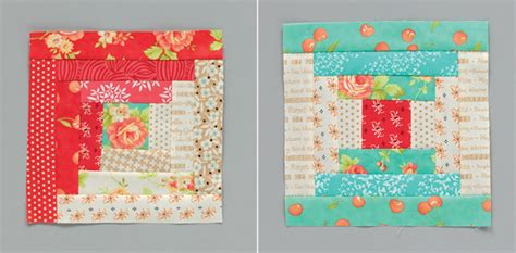 How To Make A Log Cabin Quilt Block by Log Cabin Block 16 Giveaways Stitch This The