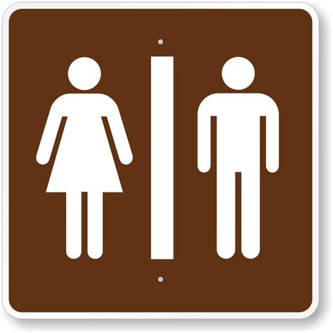 sign for bathroom bathroom signs for parks