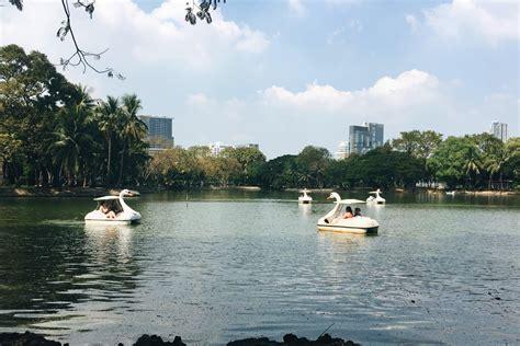 swan boats lumpini park swan boats at lumpini park bangkok thailand 2017 travel