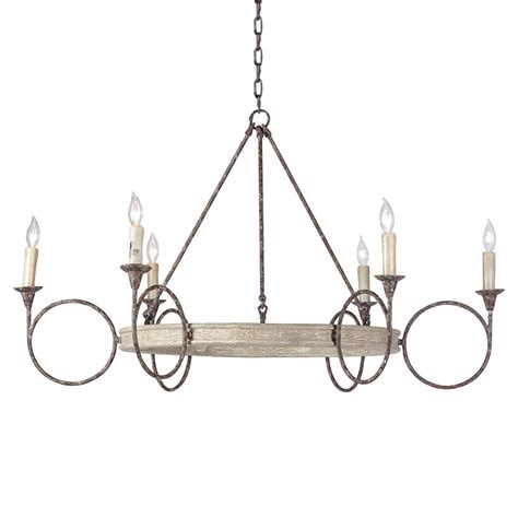Circle Chandelier Tourteau Country Iron Wood Circles Chandelier Kathy Kuo Home