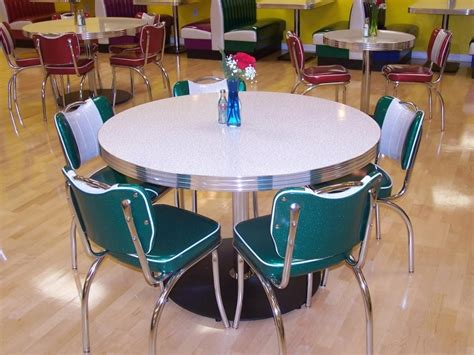 Round Dining Room Table And Chairs by Retro Style Kitchen Table And Chairs Kitchen Table