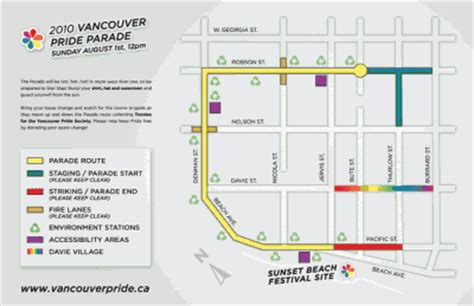 new year parade route vancouver vancouver pride parade 2010 sunday august 1 inside