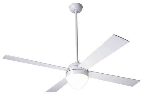 52 quot modern fan gloss white with light ceiling fan - Contemporary White Ceiling Fan With Light