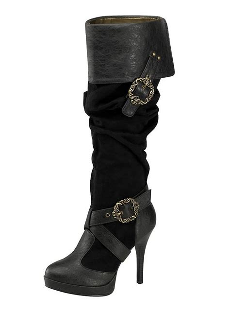 pirate boots deluxe pirate boots black