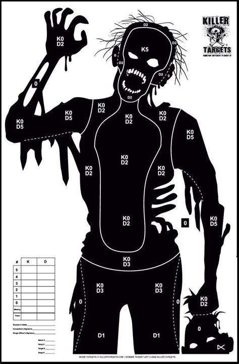 printable zombie gun targets free online printable shooting targets zombies and toys