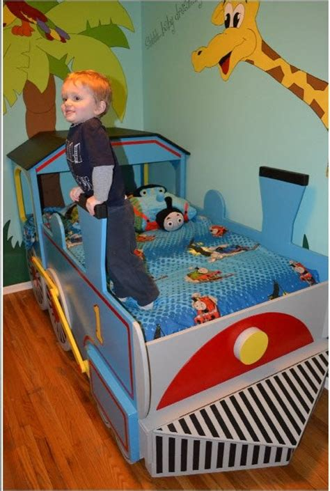 thomas the train bedroom landon s new big boy thomas the train bed made by grandpa