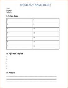 agenda templates ready made office templates
