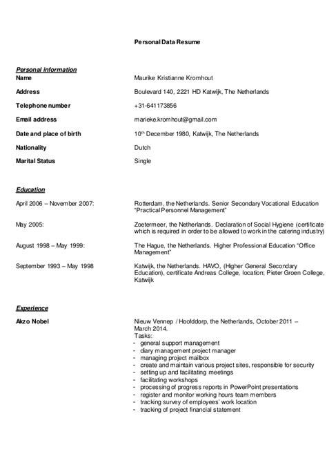 Curriculum Vitae Engels Template C V Engels Alg