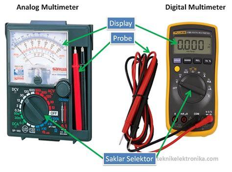 Multimeter Digital Dan Analog cara menggunakan multimeter multitester listrikypt