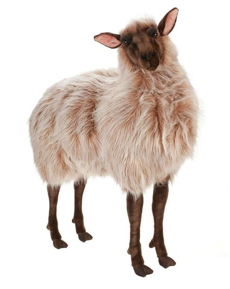 realistic stuffed hansa plush size sheep gentle ewe brown 3595 realistic stuffed animal large