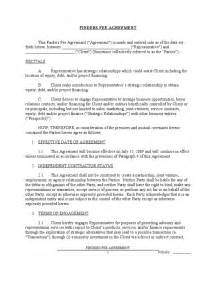 fee agreement template finders fee agreement sle