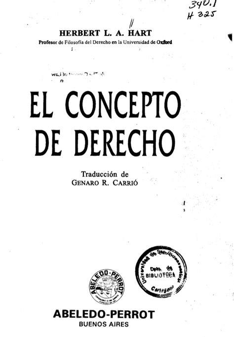 el concepto del continuum el concepto de derecho herbert hart introducci 243 n al derecho