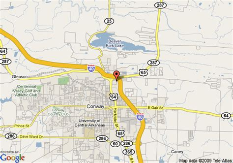 us map conway arkansas map of 8 motel conway conway