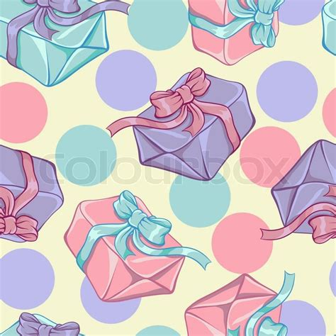 seamless pattern wiki seamless pattern with gift boxes vector texture stock
