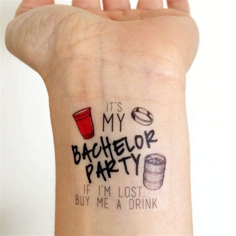 custom removable tattoos custom bachelor temporary tattoos keg cup