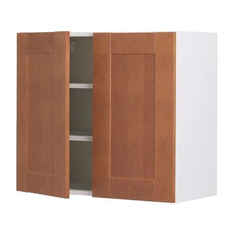 Akurum Wall Cabinet With 2 Doors Birch Effect 196 Del Birch Cabinet Doors
