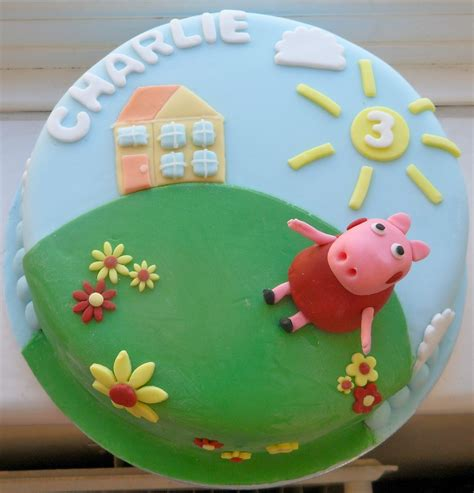 peppa pug cake the fondant peppa pig cake