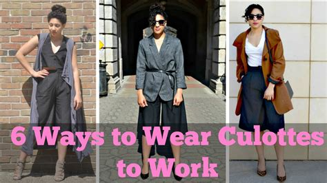 how to a working work wear inc 6 ways to wear culottes to work