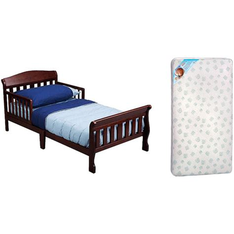 delta toddler bed w toddler mattress bundle walmart