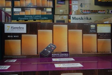 costo candele costco clearance 7 flameless led vanilla scented candles