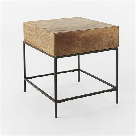 modern end table with storage rustic storage side table caf 233 modern side tables