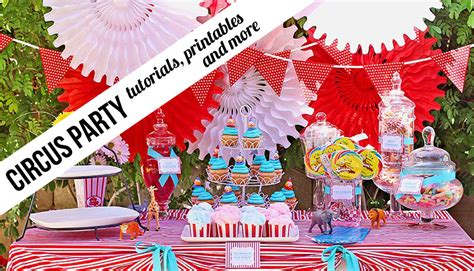 printable circus party decorations circus archives ashley hackshaw lil blue boo