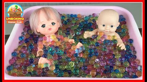 Mainan Boneka Bayi Mandi mainan anak boneka bayi mandi bola orbeez baby doll bath