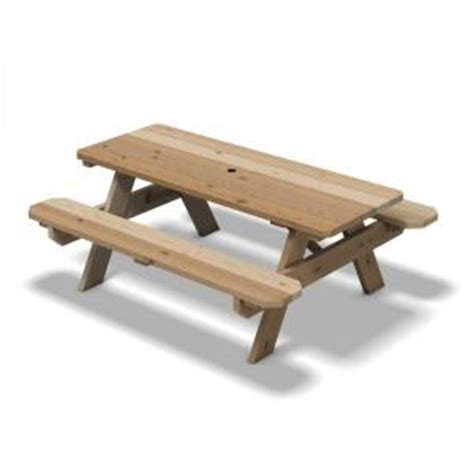 cedar picnic table with keystone connectors 155935 the