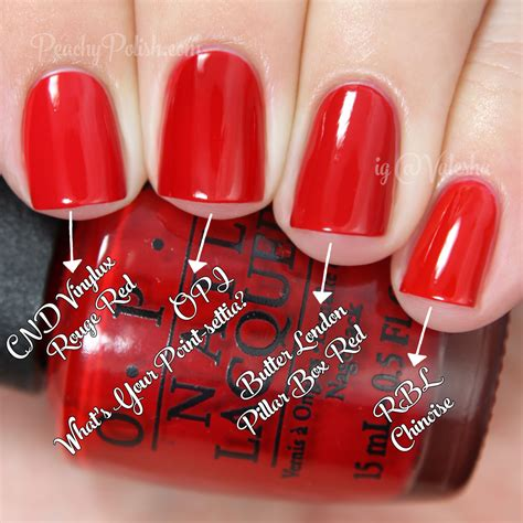 opi comparisons holiday 2014 gwen stefani collection opi what s your point settia comparison holiday 2014