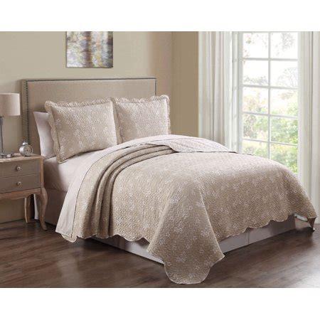 piece sicily beige quilt set walmartcom