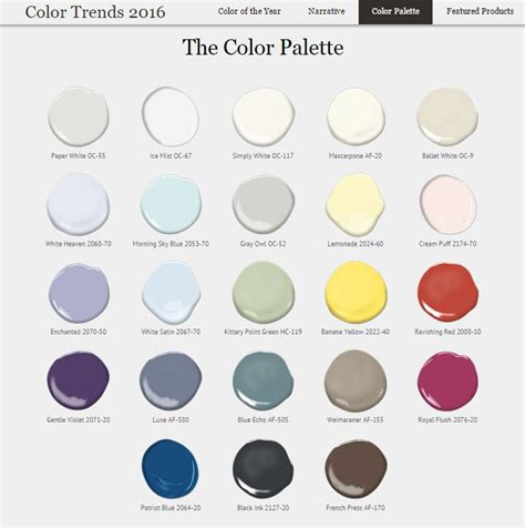benjamin 2016 color palette color paint inspirations colors benjamin