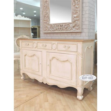 credenze basse shabby chic buffet madia shabby chic clarissa 3 credenze buffet