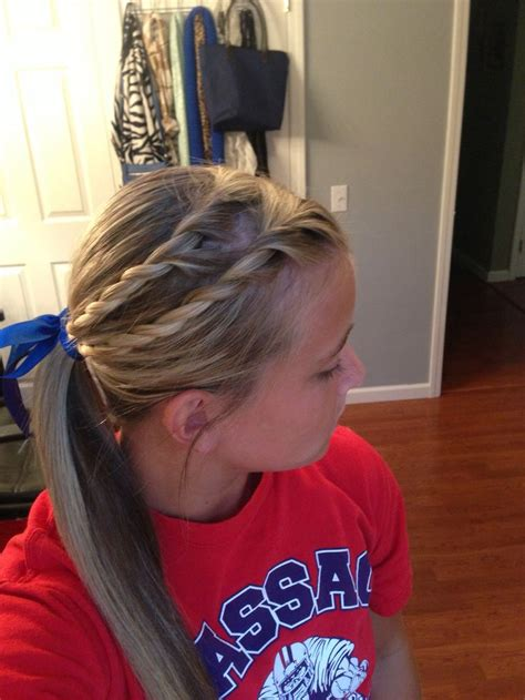 quick and easy volleyball hairstyles softball hair softball hairstyles bows pinterest