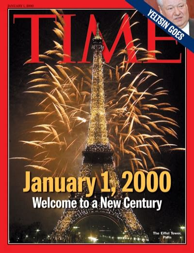 new year 2000 year of the time magazine cover welcome to the new millennium jan