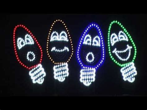 christmas singing lights the singing bulbs perform rudolph the nosed reindeer