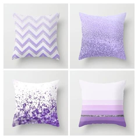 purple decorative pillows for bed pillow set glitter and stripes on pinterest