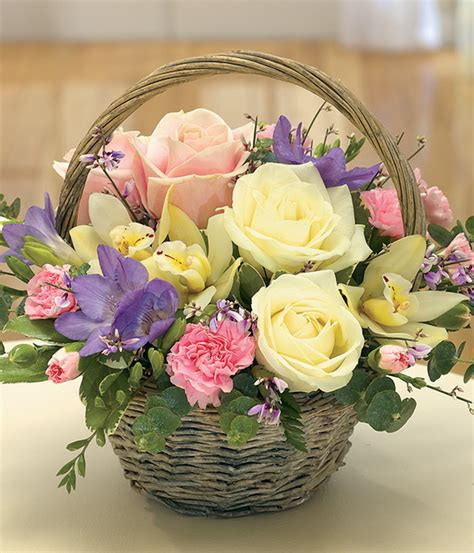 mother s day flower arrangements simply scented fragrant mothers day flower basket