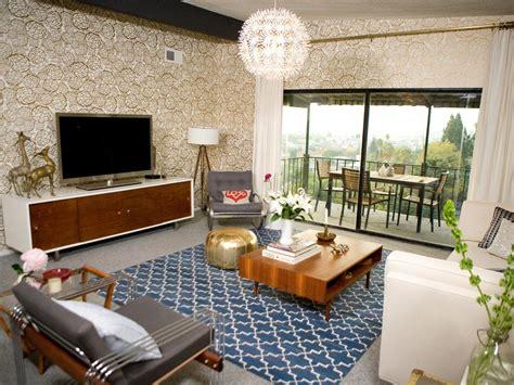 21 Beautiful Mid Century Modern Living Room Ideas   Gold